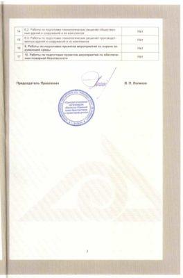Сертификат СРО фирма Стронг